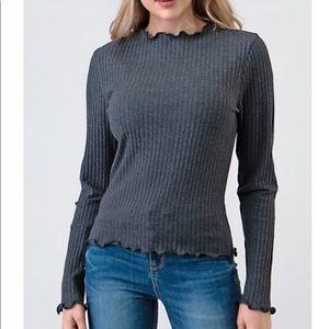 Heart Hips ribbed knit long sleeve top NWT